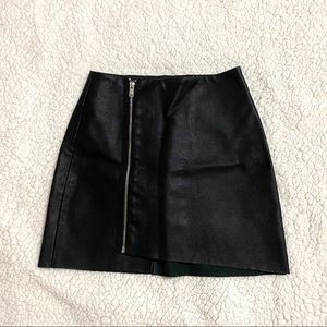 Bershka Faux leather skirt